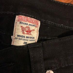 True Religion Black Skinny Jeans